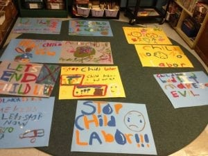 child labor protest signs