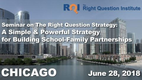 Seminar on the Right Question Strategy: A Simple & Powerful Strategy for Building School-Family Partnerships