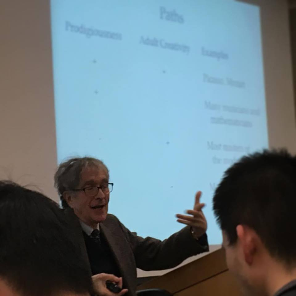 Professor Howard Gardner lecturing