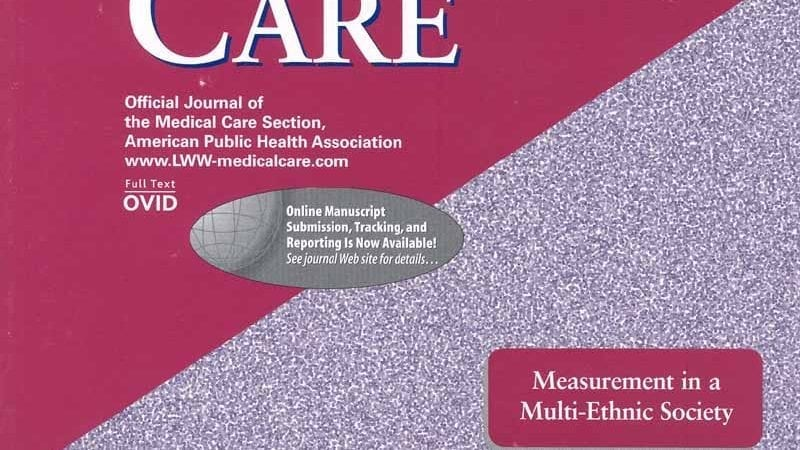 The cover of the Journal Medical Care