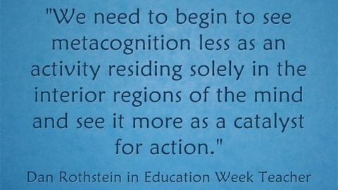 Response: Metacognition Is a 'Catalyst for Action'
