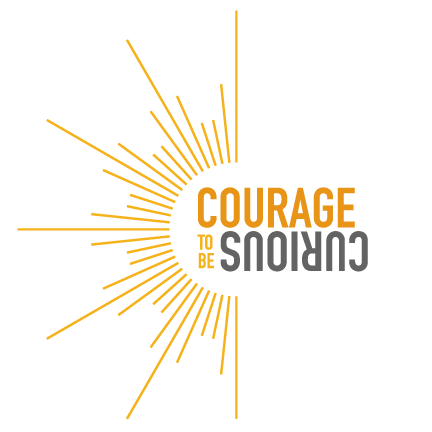 Courage to be curious logo