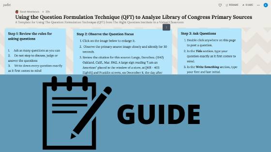 Two video guides to making your own QFT using our Padlet Template.