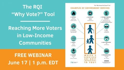 "The RQI ""Why Vote?"" Tool: Reaching More Voters in Low-Income Communities"