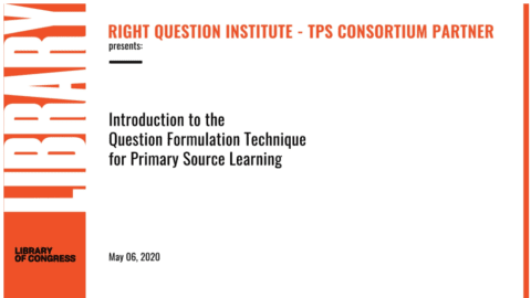 Introduction to the QFT for Primary Source Learning